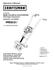 craftsman incredi pull 316 29256 manuals rh manualslib com craftsman tiller cultivator manual Craftsman Cultivator Fuel Lines