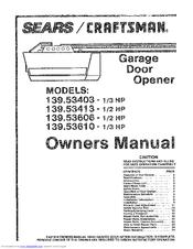 Craftsman 139 53403 Owner S Manual Pdf Download Manualslib