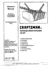 Craftsman 139 53962 Srt Owner S Manual Pdf Download Manualslib