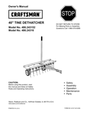 Craftsman 486.243152 Owner's Manual