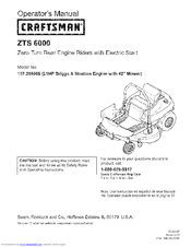 Craftsman 107.289860 Instructions Manual