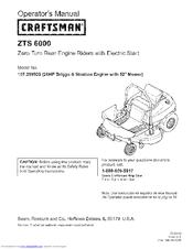 craftsman zts 6000 manuals rh manualslib com Craftsman ZTS 7000 3 Bin Bagger Parts Sears ZTS 6000