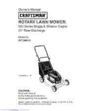 craftsman 917 388191 manuals rh manualslib com craftsman briggs and stratton 550 series lawn mower manual briggs and stratton 550 lawn mower manual