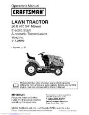 Craftsman YT 4500 Owner's Manual