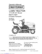 craftsman lts 1500 owner s manual pdf download rh manualslib com craftsman lt 2000 owners manual online craftsman lt 2000 user manual