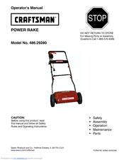 craftsman power rake 486 2928 operator s manual pdf download rh manualslib com ryan power rake manual turf teq power rake manual