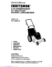craftsman 917 388410 manuals rh manualslib com Sears Craftsman Riding Lawn Mower Craftsman Lawn Mower 917 Series