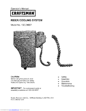 Craftsman 132.24607 Operator's Manual
