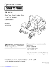 Craftsman 107.277700 Operator's Manual
