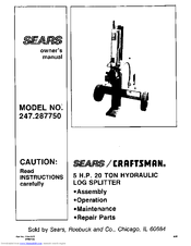Craftsman 247.28775 Owner's Manual