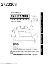 Craftsman 27233 Professional Electric Brad Nailer Manuals