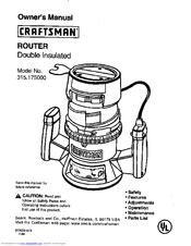 craftsman 315 175 owner s manual pdf download rh manualslib com Sears Craftsman Router 315 174710 Craftsman Professional Router Table Manual