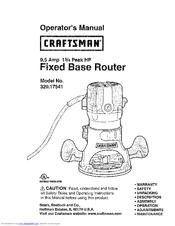 craftsman 17541 9 5 amp 1 3 4 hp fixed base router manuals rh manualslib com craftsman router manual 2506 craftsman router manual model 135