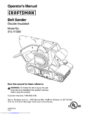 craftsman belt sander owners manual enthusiast wiring diagrams u2022 rh rasalibre co Craftsman Belt Sander 315.11720 Manual Craftsman Belt Sander 315.11720 Manual