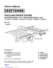 Craftsman 113.29931 Owner's Manual