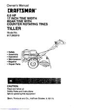 craftsman 917 29331 owner s manual pdf download rh manualslib com Craftsman Rear Tine Tiller Problems Craftsman Rear Tine Tiller Transmission