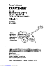 craftsman tiller 917 29332 owner s manual pdf download rh manualslib com Craftsman Cultivator Fuel Lines craftsman tiller cultivator manual
