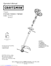 Craftsman 104.79212 Operator's Manual