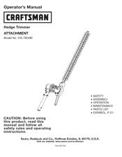 CRAFTSMAN 316 79249 OPERATOR'S MANUAL Pdf Download