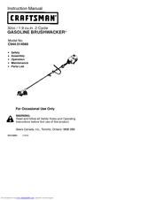 Craftsman brushwacker 358. 795180 manuals.