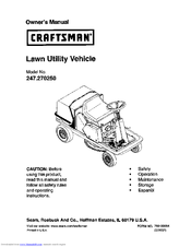 Craftsman 270 Owner's Manual