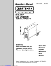 mig welding manual user guide manual that easy to read u2022 rh sibere co Sears Craftsman ManualsOnline Owner S Manual Craftsman 917