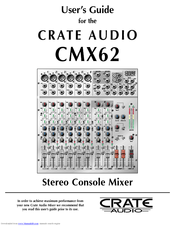 crate cmx62 manuals rh manualslib com Tour Guide Audio Systems Audio Guide On Map