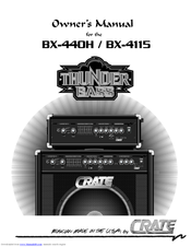 Crate ThunderBass BX-440H Owner's Manual