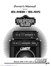 Crate BX-440H Owner's Manual