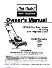 cub cadet 108c114 manuals rh manualslib com cub cadet lawn mower parts cheap cub cadet push mower parts