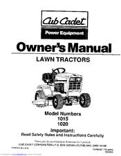 cub cadet 1020 manuals rh manualslib com 1020 Cub Cadet Belt Diagram Cub Cadet Wiring Diagram 1989