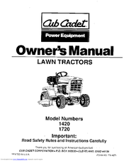cub cadet 1420 owner s manual pdf download rh manualslib com
