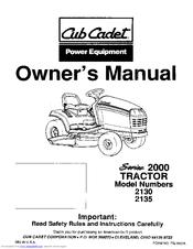 cub cadet 2135 manuals. Black Bedroom Furniture Sets. Home Design Ideas