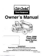 cub cadet 2185 manuals rh manualslib com Cub Cadet HDS 2185 Drive Replacement Barrel Cub Cadet HDS 2185 Drive Replacement Barrel