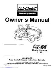 cub cadet gt 2186 manuals rh manualslib com cub cadet 2186 repair manual Cub Cadet Lawn Tractors Bagger