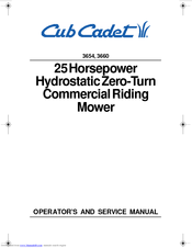 3206 cub cadet wiring diagram cub cadet 3654  3660 operator s and service manual pdf download  cub cadet 3654  3660 operator s and