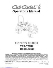 cub cadet 5234d manuals rh manualslib com Cub Cadet 2084 Specifications Cub Cadet 5234D Loader