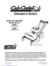 CUB CADET 833E SERIES OWNER'S MANUAL Pdf Download