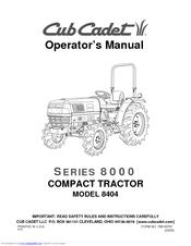 Cub Cadet 8404 Operator's Manual