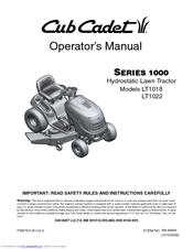cub cadet lt1018 manuals rh manualslib com Cub Cadet 1000 Cub Cadet 1000