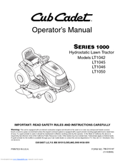 cub cadet lt1045 manuals rh manualslib com Cub Cadet 1045 Repair Manual Cub Cadet LT1045 Riding Mower