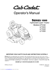 [SCHEMATICS_48DE]  CUB CADET LTI050 OPERATOR'S MANUAL Pdf Download | ManualsLib | Cub Cadet Lt1045 Wiring Diagram Charging System |  | ManualsLib