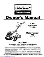 Cub Cadet 215-440-100 Manuals