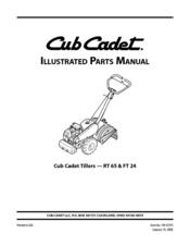 CUB CADET RT 65 PARTS MANUAL Pdf Download