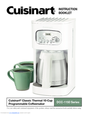 Cuisinart DCC-1150BK - 10 Cup Programmable Thermal Coffeemaker Manuals