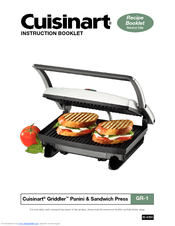 cuisinart gr 1 griddler panini sandwich press manuals rh manualslib com Cuisinart Griddler Recipe Book Cuisinart Griddler Jr
