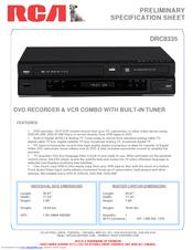 rca drc8335 dvd recorder vcr combo manuals rh manualslib com Spongebob DVD Television Combo RCA DVD VCR Combo Manual