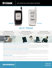 D-Link DPH-540 Specifications