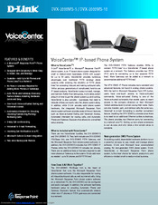 D-Link DVX-2000MS-10 - VoiceCenter IP Phone System Brochure & Specs