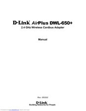 D-Link AirPlus DWL-650+ Manual